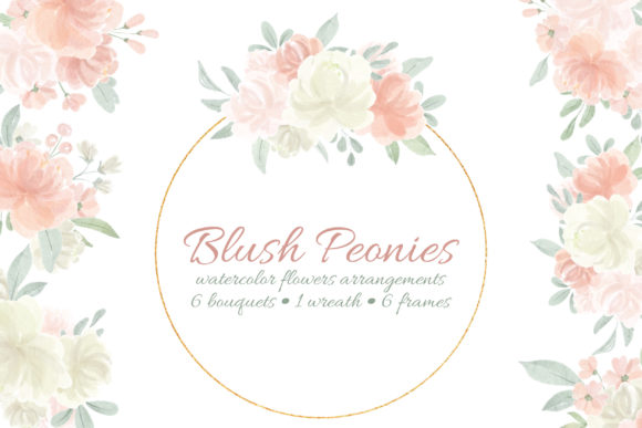 Print on Demand: Watercolor Flowers and Frames Graphic Illustrations By Craft Point Art