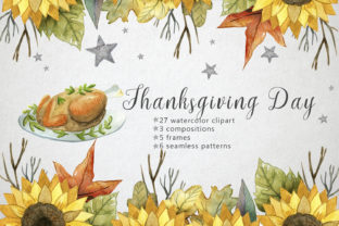 Print on Demand: Watercolor Thanksgiving Day Graphic Illustrations By By Anna Sokol