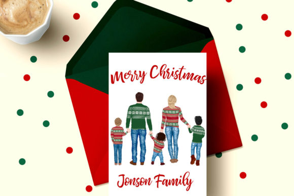 Winter Family Christmas Clipart Graphic Preview