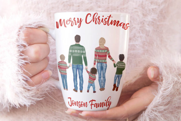 Winter Family Christmas Clipart Graphic Image