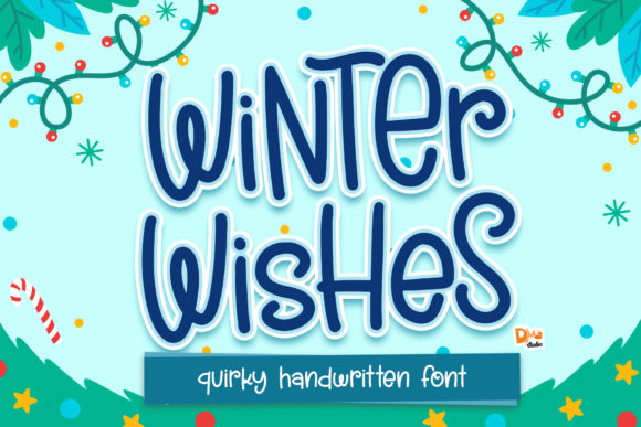 Print on Demand: Winter Wishes Script & Handwritten Font By dmletter31