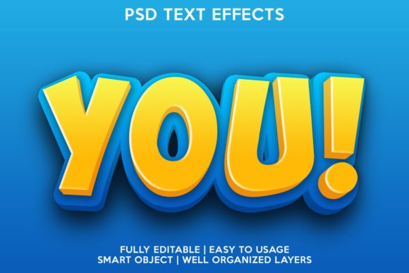 You Text Effect Graphic