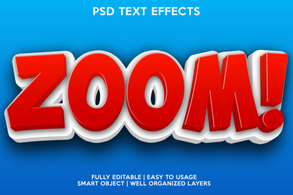 Zoom Text Effect Graphic