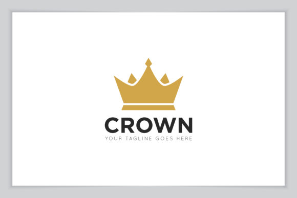 Print on Demand: Crown Logo Vector and Icon Illustration Graphic Logos By amindachoirunanaz