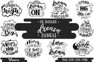 Print on Demand: 10 Dream Bundle - Lettering Quotes Graphic Crafts By Vunira