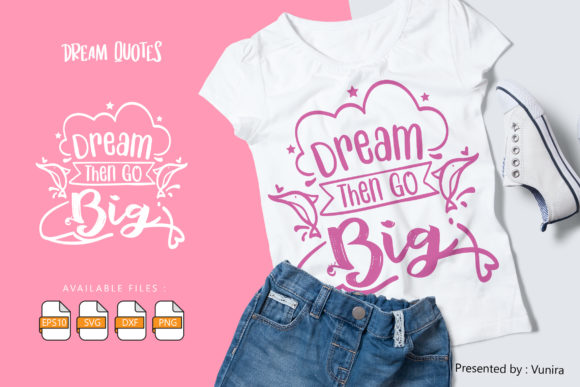 10 Dream Bundle - Lettering Quotes Graphic Design Item