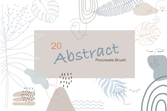 Print on Demand: 20 Abstract Procreate BrushesStamp-Brush Graphic Brushes By Pui Pui