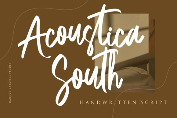 Print on Demand: Acoustica South Script & Handwritten Font By HansCo