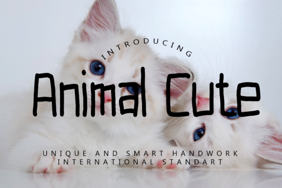 Print on Demand: Animal Cute Script & Handwritten Font By giatstudios