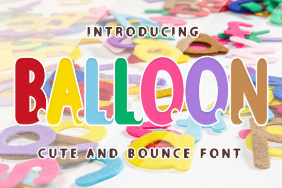Print on Demand: Balloon Display Font By ONE DESIGN