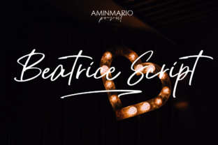 Print on Demand: Beatrice Script Script & Handwritten Font By aminmario