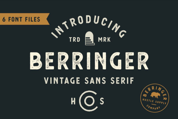 Print on Demand: Berringer Sans Serif Font By Hustle Supply Co.