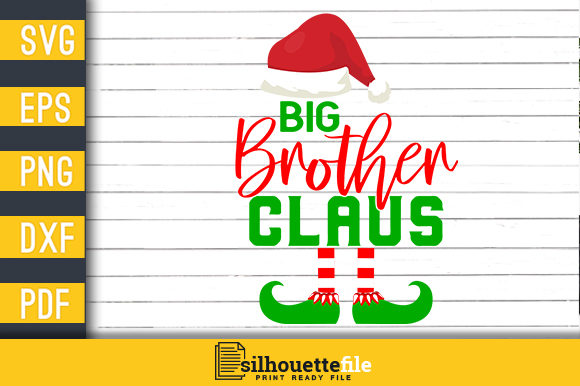 Print on Demand: Big Brother Claus Graphic Print Templates By Silhouettefile