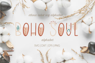 Boho Soul Alphabet Clipart, Boho ABC Svg Graphic Illustrations By LetsArtShop