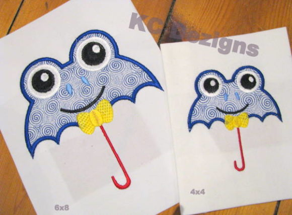 Boy Frog Umbrella Boys & Girls Embroidery Design By karen50