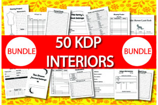 Print on Demand: Bundle Pack 50 KDP Interiors Graphic KDP Interiors By Ivana Prue