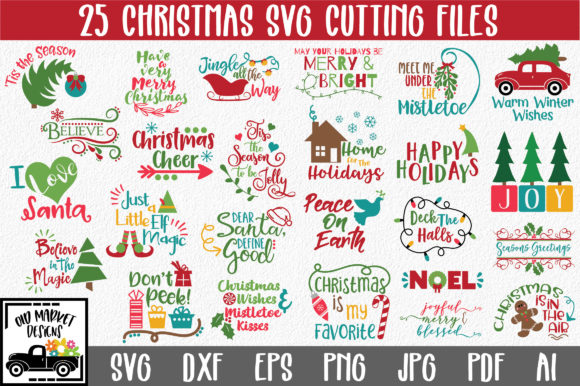 Print on Demand: Christmas Bundle Gráfico Crafts Por oldmarketdesigns