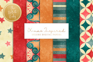 Print on Demand: Christmas Inspired Scrapbook Papers Graphic Patterns By daphnepopuliers