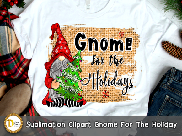 Christmas Sublimation Gnome for Holidays Graphic Download