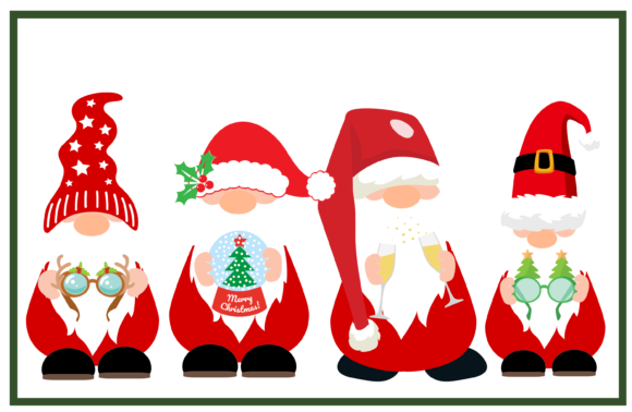 Christmas Gnomes. Graphic Crafts By CREATIVE M.D
