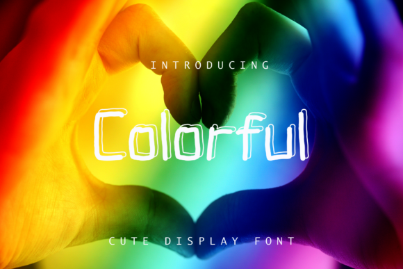 Print on Demand: Colorful Display Font By giatstudios