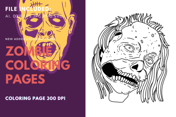 Print on Demand: Dirty Zombie Face Coloring Page Graphic Coloring Pages & Books By stanosh