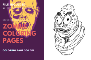 Print on Demand: Disgusting Frog Zombie Coloring Page Graphic Graphic Templates By stanosh
