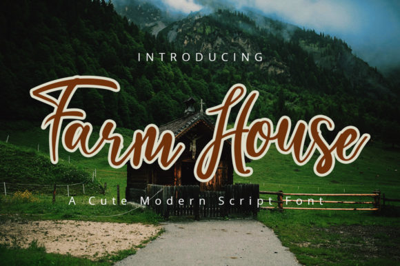 Print on Demand: Farmhouse Script & Handwritten Font By iblfz