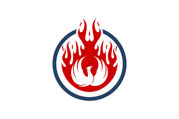 Fire Logo Graphic Logos By SkyAce Graphic