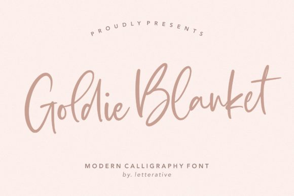 Print on Demand: Goldie Blanket Script & Handwritten Font By letterativestudio