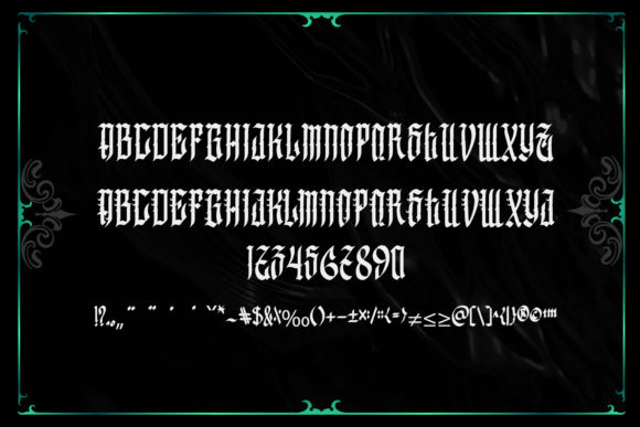 Greenbull Font Preview
