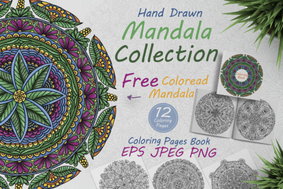 Hand Drawn Mandalas for Coloring Graphic Coloring Pages & Books Adults By FolkStyleStudio