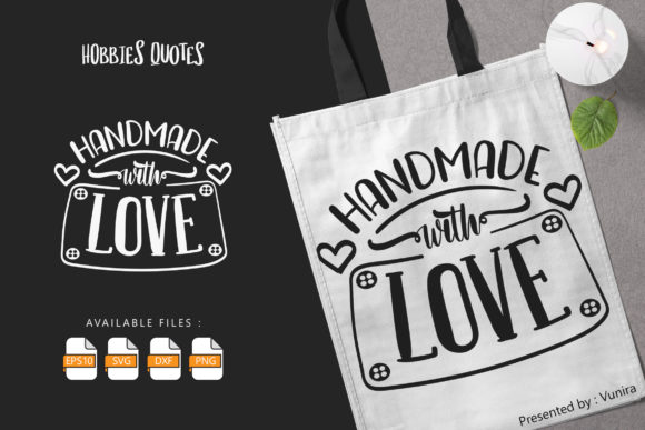 Handmade with Love SVG Cut Files