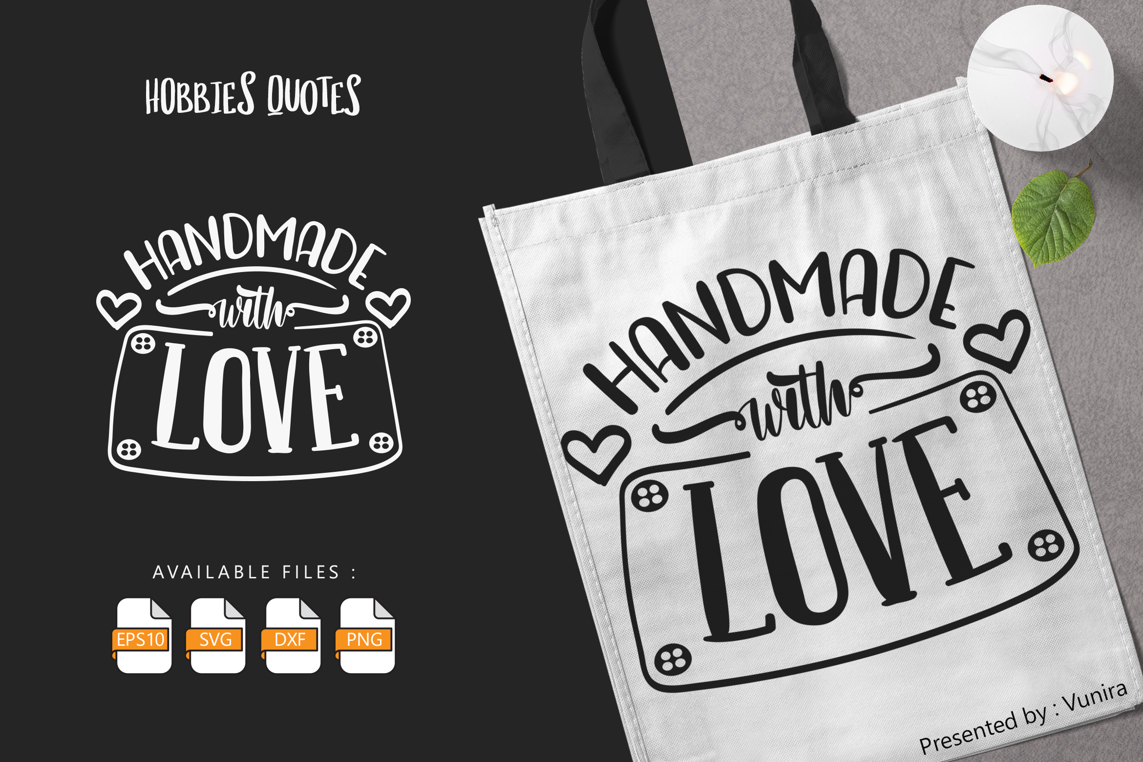 Handmade with Love SVG File