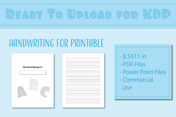 Print on Demand: Handwriting Practice Paper for Children Graphic KDP Interiors By IsaraDesign