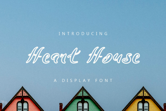 Print on Demand: Heart House Display Font By giatstudios