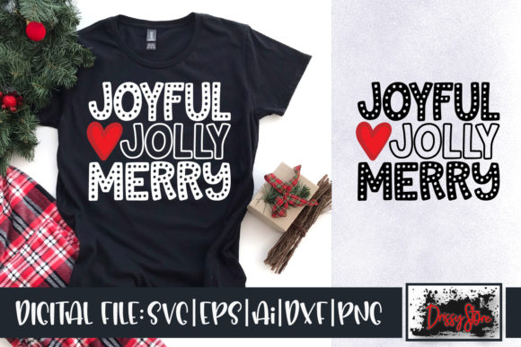 Joyful Jolly Merry Graphic Crafts By DrissyStore