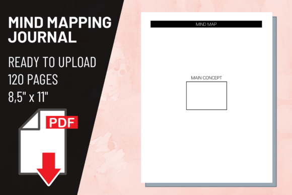 Print on Demand: KDP Interior Mind Mapping Journal Graphic KDP Interiors By atlasart