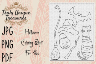 Kids Halloween Coloring Sheet Graphic Coloring Pages & Books Kids By Truly Unique Treasures