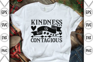 Print on Demand: Kindness is Contagious Graphic Crafts By store_svg