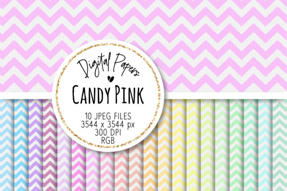 Print on Demand: Light Pastel Chevron Patterns Graphic Patterns By loyaarts