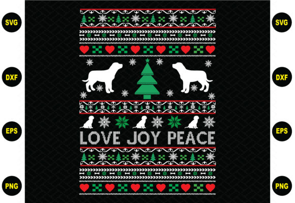 Love Joy Peace Christmas Graphic Crafts By BDB_Graphics