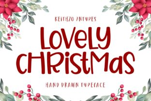 Print on Demand: Lovely Christmas Script & Handwritten Font By Keithzo (7NTypes)