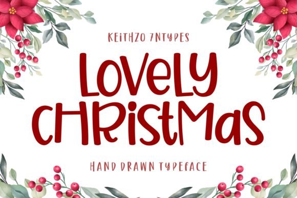 Print on Demand: Lovely Christmas Script & Handwritten Fuente Por Keithzo (7NTypes)