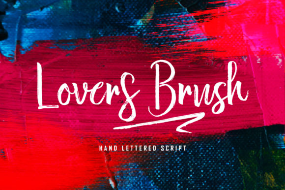 Print on Demand: Lovers Brush Script & Handwritten Font By Bal Studio