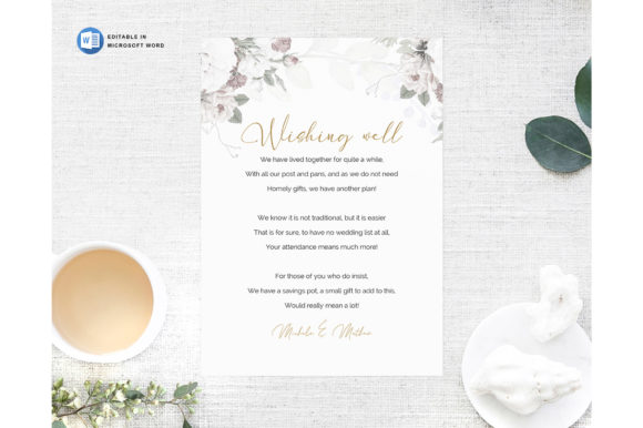 Microsoft Word Printable Wedding Wishing Graphic