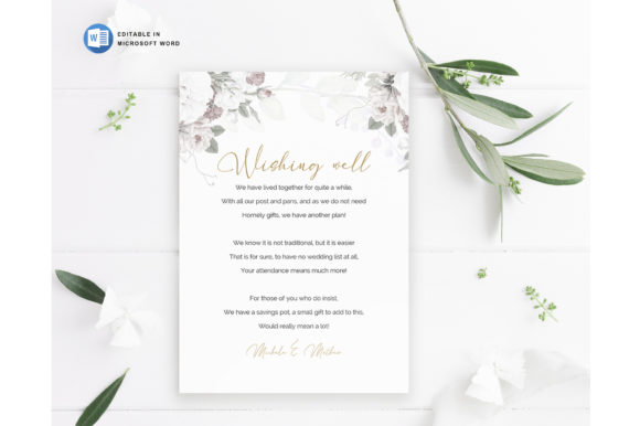 Microsoft Word Printable Wedding Wishing Graphic Download