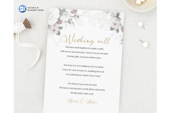 Microsoft Word Printable Wedding Wishing Graphic Item