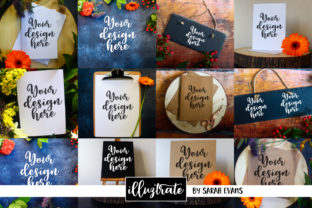 Print on Demand: Mockup Bundle | Floral Styled Stock Graphic Product Mockups By illuztrate