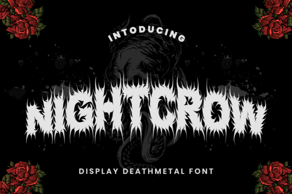 Print on Demand: Night Crow Display Font By putracetol